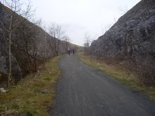Section of disused railway forming part of the trail.