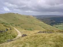 The Pennine Bridleway stretching away into the Peak District hills.